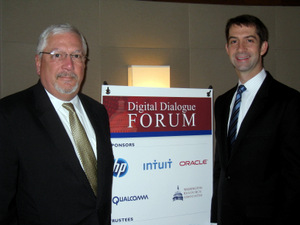 HP's Randy Dove welcomes Senator Cotton to DDF
